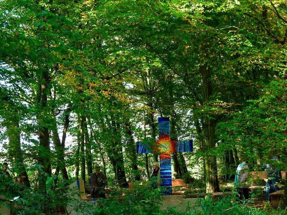Im Neurieder Bestattungsgwald bei Ichenheim finden regelmäßig Führungen statt.    Foto: Vivien Büchele