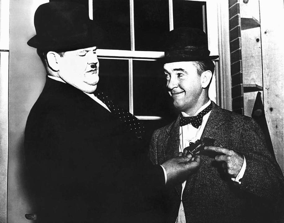 Oliver Hardy und Stan Laurel.  | Foto: dpa