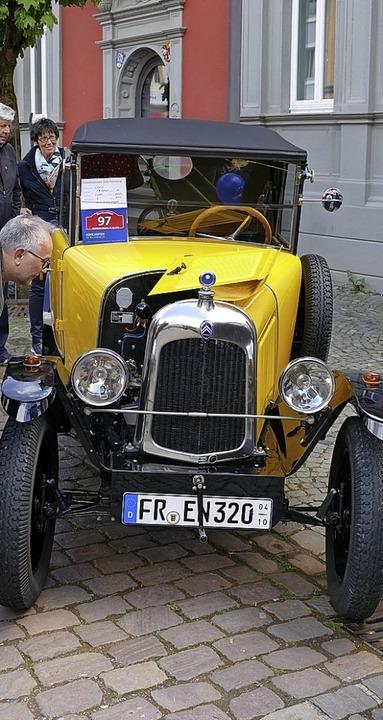 Das älteste Auto beim Waldkircher Sonntag war dieser Citroën von 1922.  | Foto: Sylvia Sredniawa
