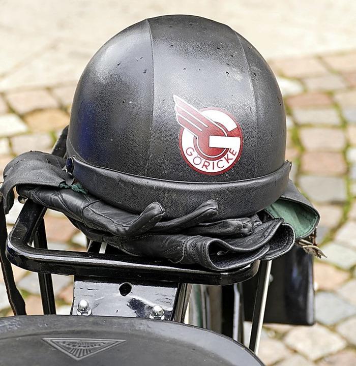 Zum Göricke-Motorrad von 1950 der pass...ldtimerbesitzern ist so etwas wichtig.  | Foto: Sylvia  Sredniawa