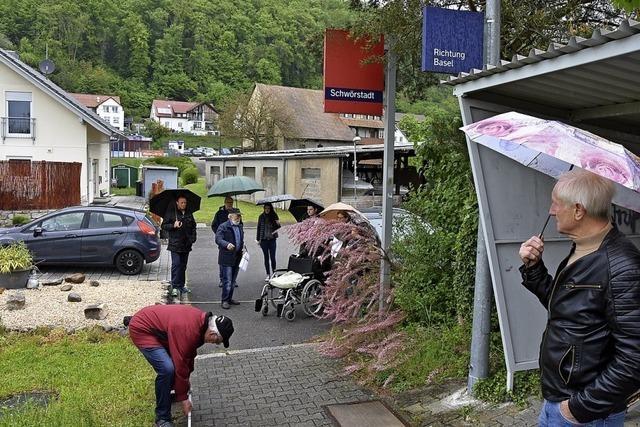 Schwörstadts CDU besucht Bahnstrecke