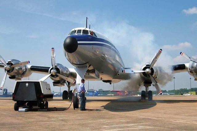 Flugzeug-Oldtimer Super Constellation geht in den Ruhestand