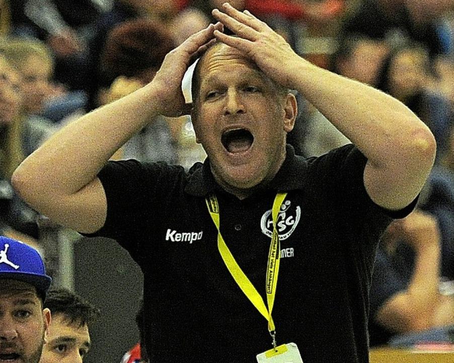 Mirko Reith: Sein Team rutscht in die Landesliga.   | Foto:  Büro Schaller
