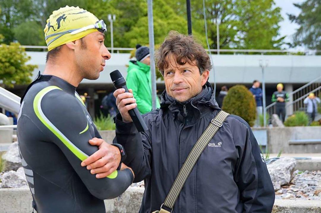 Selim Cevik (links) und Moderator Marcus Wild.    Foto: Horatio Gollin