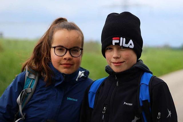 Vier Teenager sind in 24 Stunden quer durch den Landkreis Lörrach gewandert