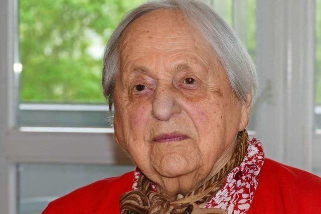 Wie wird man 100 Jahre alt? Hildegard Herzog aus Lörrach hat einen Tipp