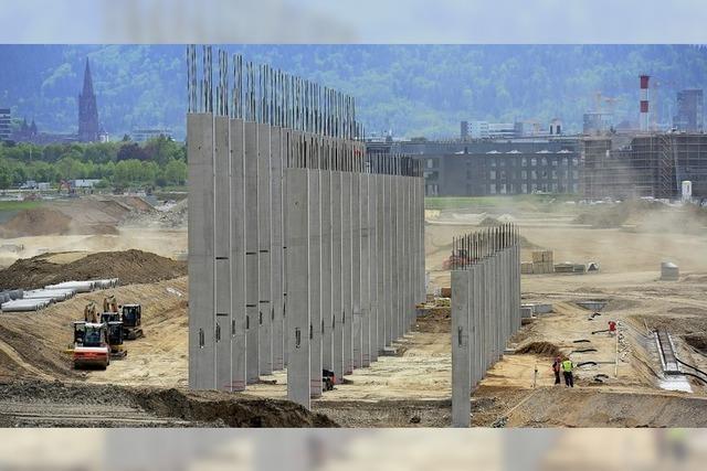 Das neue SC-Stadion nimmt Form an