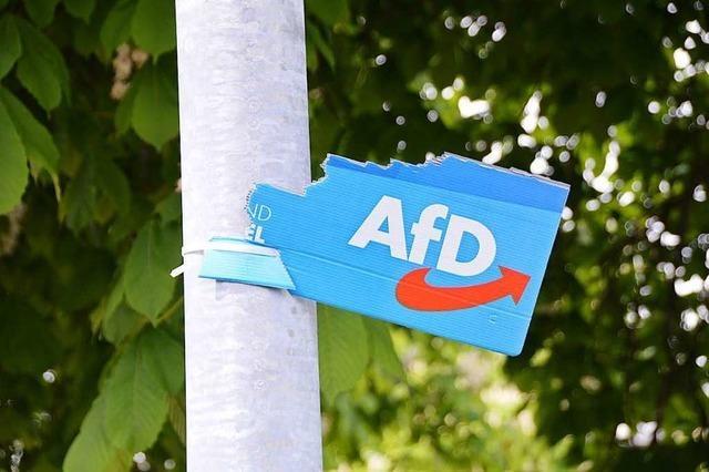 Unbekannte reißen Wahlplakate der AfD ab