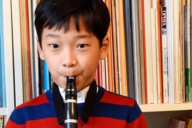 Neunjähriger Klarinetten-Profi aus Denzlingen fährt zu