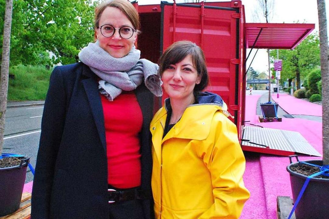 Schulterschluss für ein Projekt: Bürge...arnaccia, Geschäftsführerin IBA Basel.  | Foto: Maja Tolsdorf
