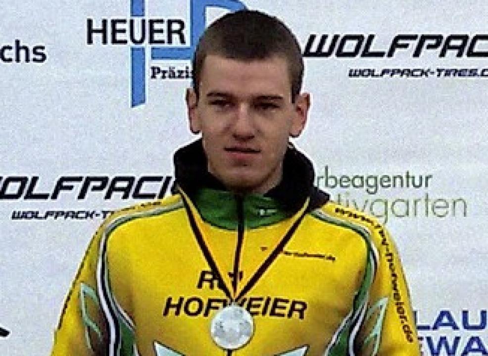 Felix Bauer vom RSV Hofweier mit der Silbermedaille.   | Foto:  Privat