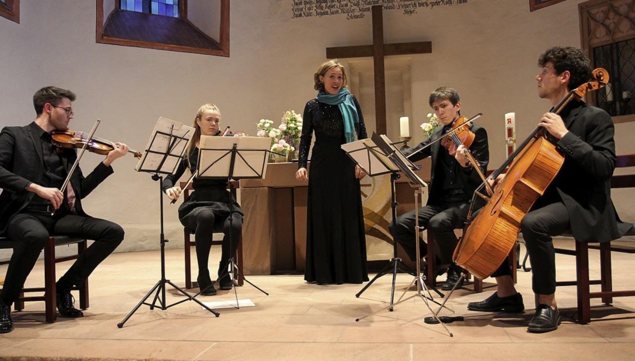 Das Cobani-Quartett und die Sopranisti...geisterten in der Nimburger Bergkirche  | Foto: Dagmar Barber