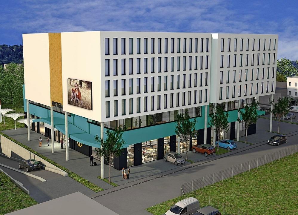 Neben den 104 Betten soll es im Komple...nirshop und ein kleines Museum geben.   | Foto: Visualisierung: Finck