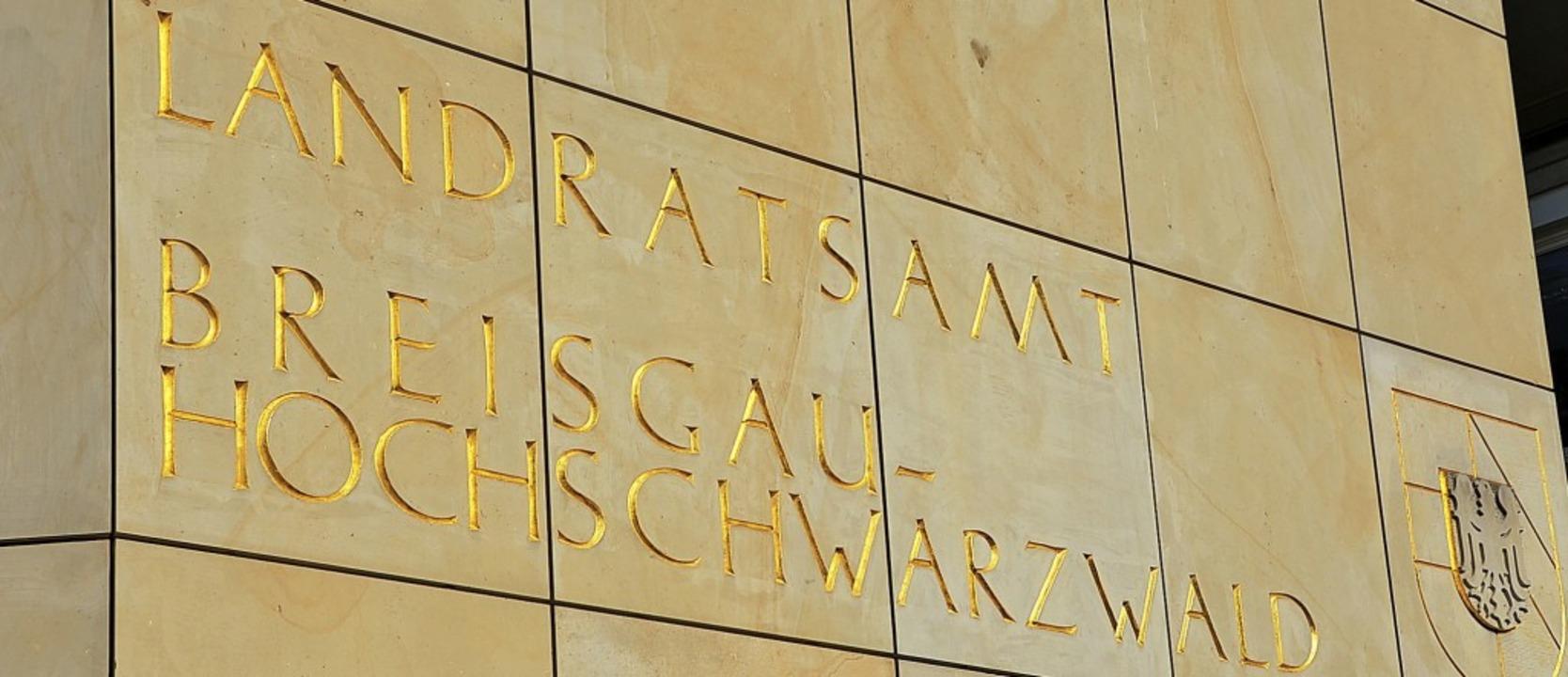 Im Landratsamt in Freiburg tagt der Kreistag, der am 26. Mai neu gewählt wird.    | Foto: Sebastian Wolfrum