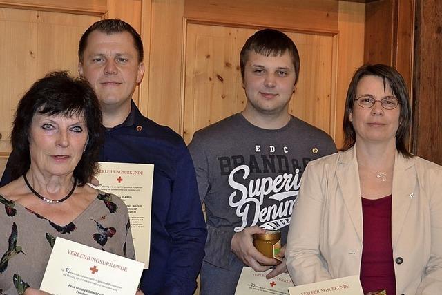 Auszeichnung für treue Blutspender