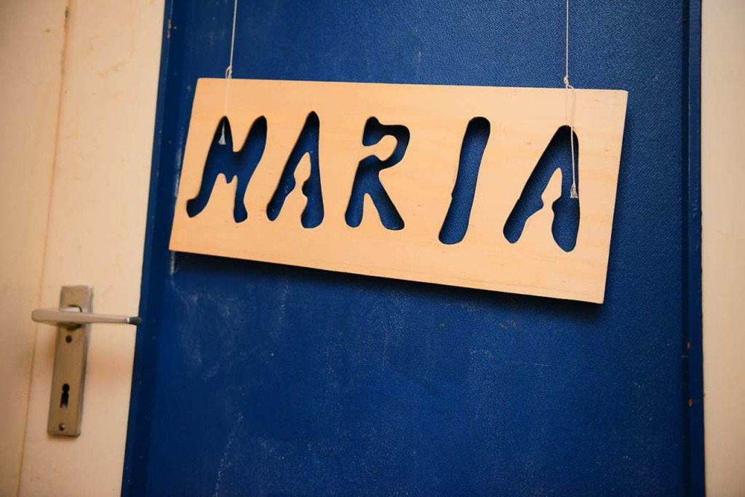 Türschild an Marias Zimmer in der Wohnung ihrer Mutter (fotografiert 2015).  | Foto: dpa