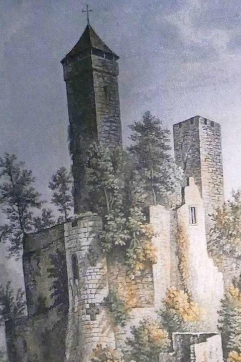 Romantische Ansicht der Burg Rötteln.    Foto: Sabine Ehrentreich