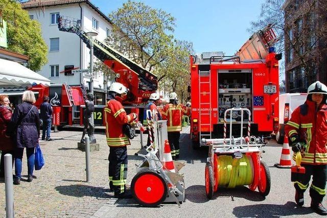 Brandgeruch im Modehaus Ermuth löst Feuerwehreinsatz aus