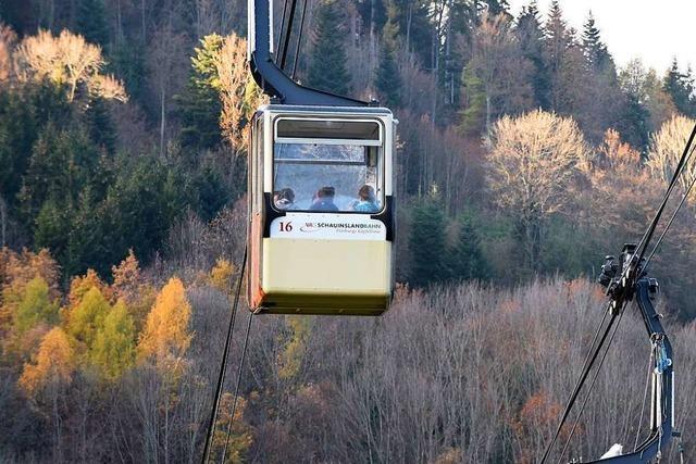 Schauinslandbahn fährt wegen Sturms am Donnerstag nicht