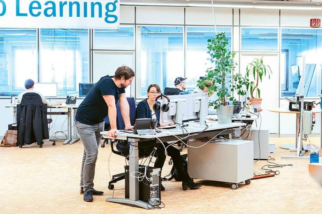 Im Start-up-Zentrum wird getüftelt.  | Foto: Sick AG