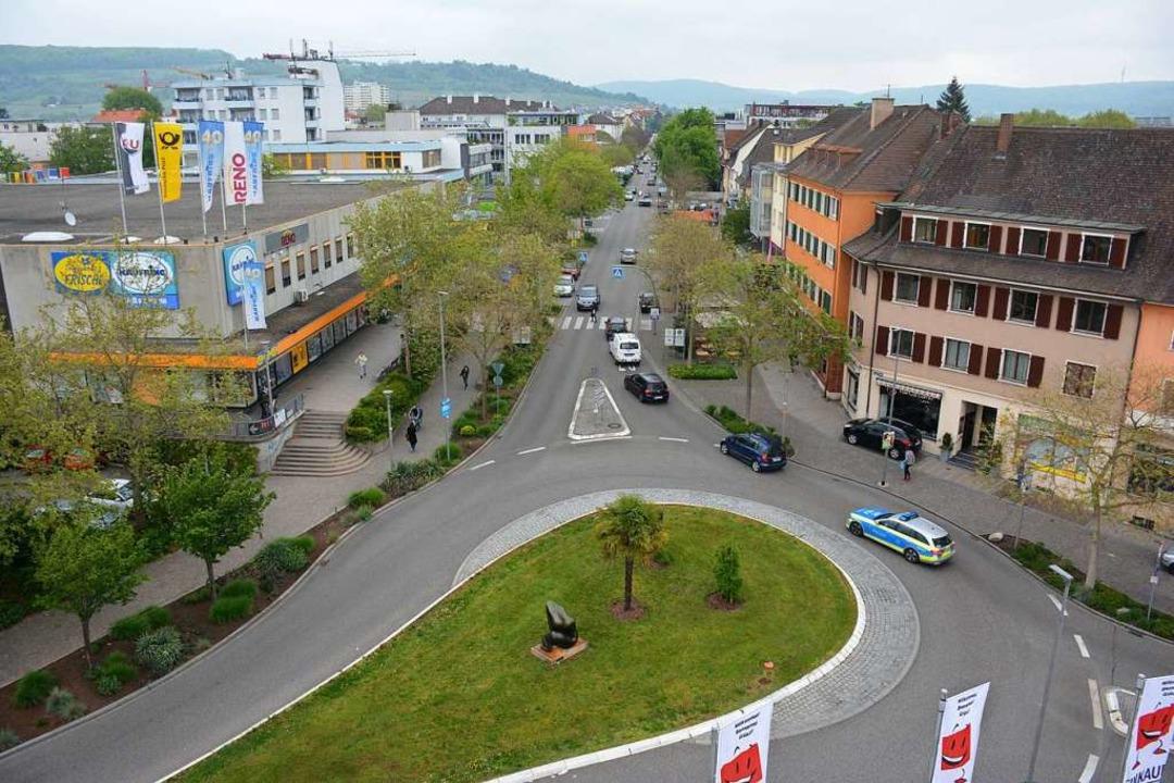In diesem Bereich, zwischen Schlaufenk...nge Fußgängerzone eingerichtet werden.    Foto: Hannes Lauber