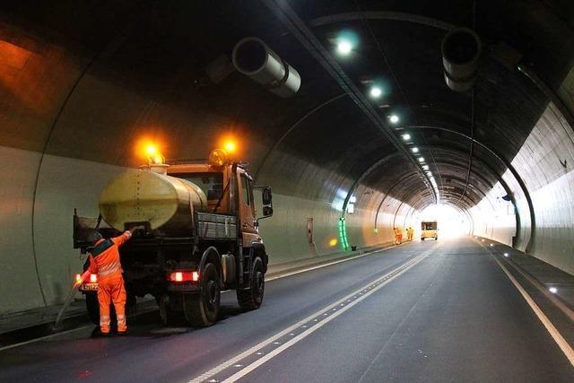 Vom 13. bis 17 Mai: Nachts Wartungsarbeiten im Hugenwaldtunnel (B 294) bei Waldkirch