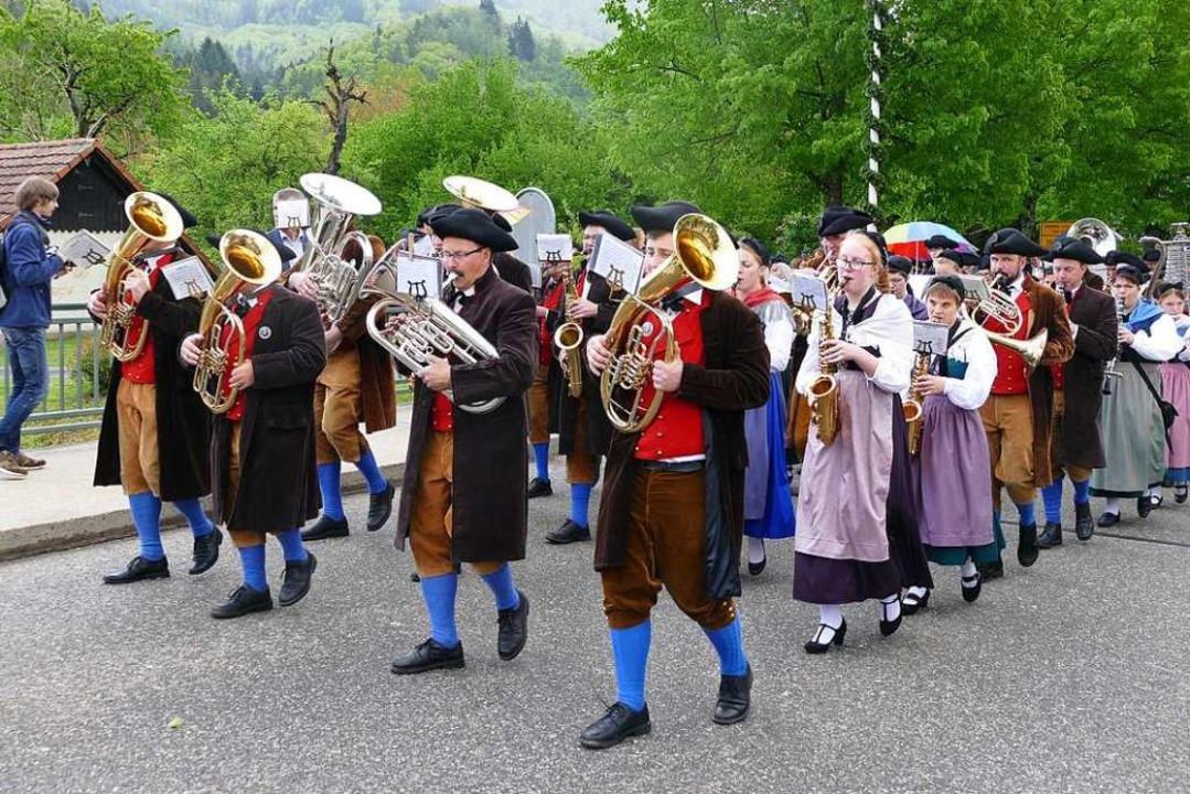 Die Hebelmusik beim Festumzug.  | Foto: Sarah Trinler