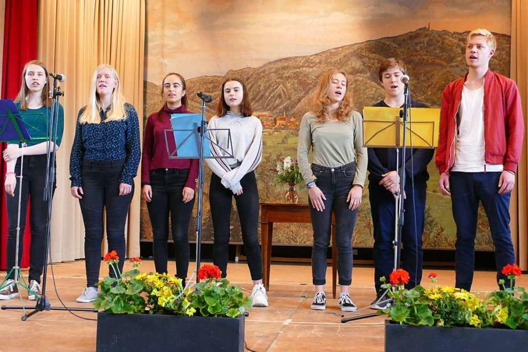 Das Gesangsensemble der Musikschule Mittleres Wiesental.  | Foto: Sarah Trinler