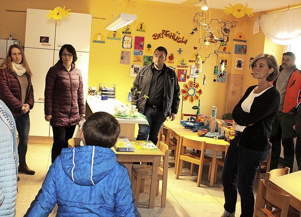 Die Kindergärten in Hüsingen und in Hä...ten im Rahmen des Kommunalwahlkampfs.   | Foto: Fabry