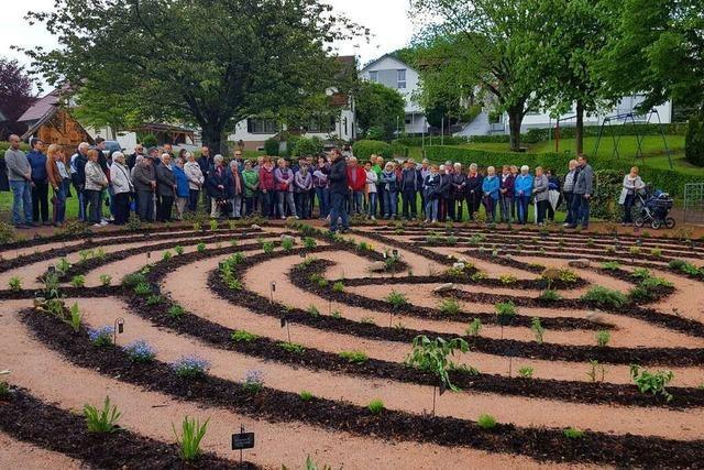 Das Kräuterlabyrinth in Schweighausen ist eröffnet