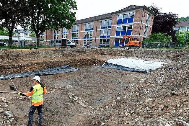 Archäologen finden Quecksilber auf der Baustelle für die Finanzschule in Freiburg