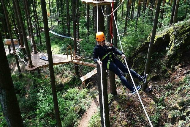 In Bad Säckingen öffnet Ende Mai der Kletterwald Hochempor