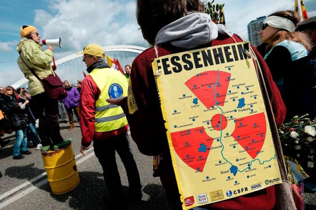 Grenzüberschreitender Anti-Atomkraft-P...tte immer eine europäische Komponente.  | Foto: FREDERICK FLORIN