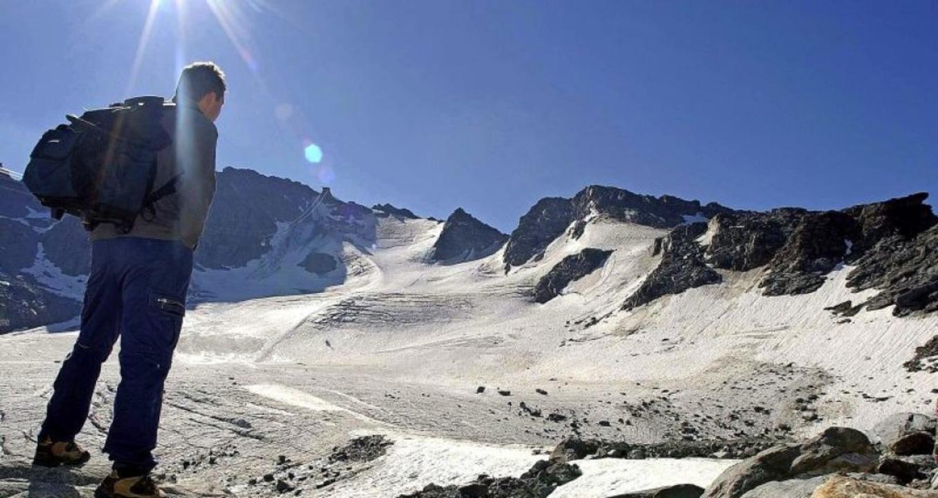 Den Schweizern schmelzen die Gletscher weg. Da wollen sie nicht untätig bleiben.  | Foto: Olivier Maire