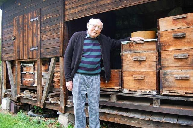 Das noch einzig lebende Gründungsmitglied des Imkervereins Ried