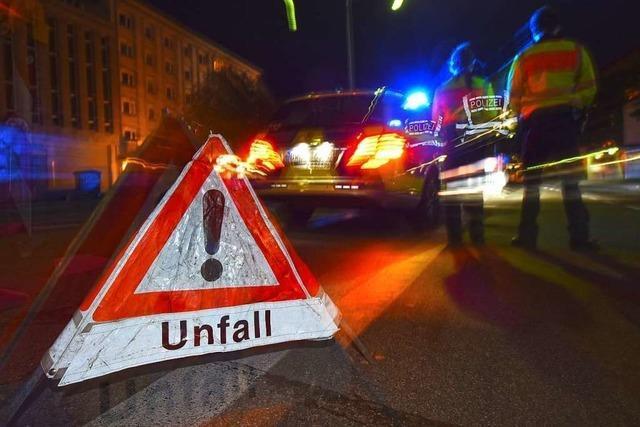 Vollsperrung der B 34 nach Unfall bei Schwörstadt