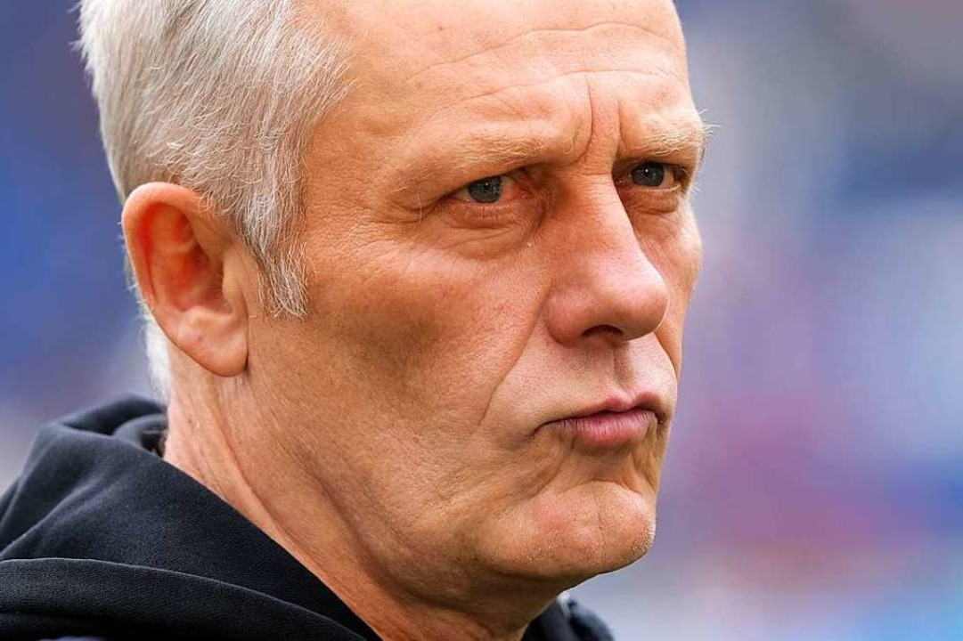 SC-Trainer Christian Streich schmeckt das Ergebnis überhaupt nicht.  | Foto: dpa