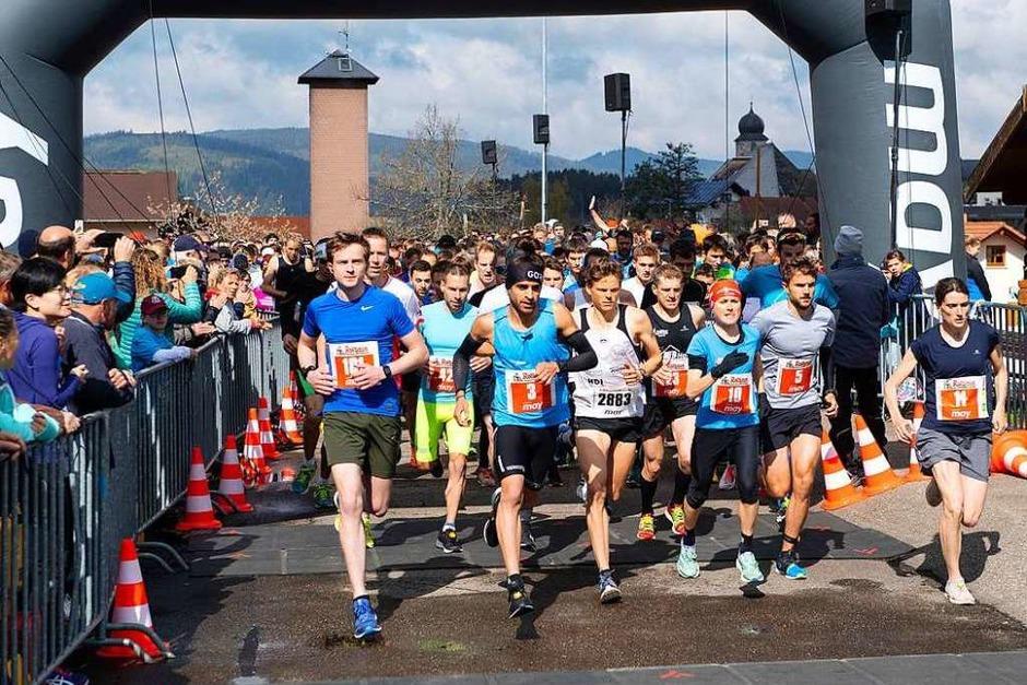 Die Ausdauersportler sind 18,2 Kilometer durch den Wald und rund um den See gelaufen. (Foto: Wolfgang Scheu)