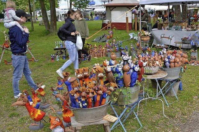 Töpfermarkt auf dem Breisacher Weinfestgelände