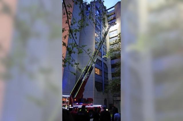 Feuer ganz oben im Carat-Hotel – da ist auch die Übung ein Ernstfall