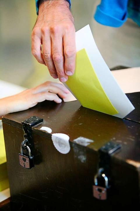 Wenn der Wähler gesprochen hat, wird's  spannend.  | Foto: Bastian Henning