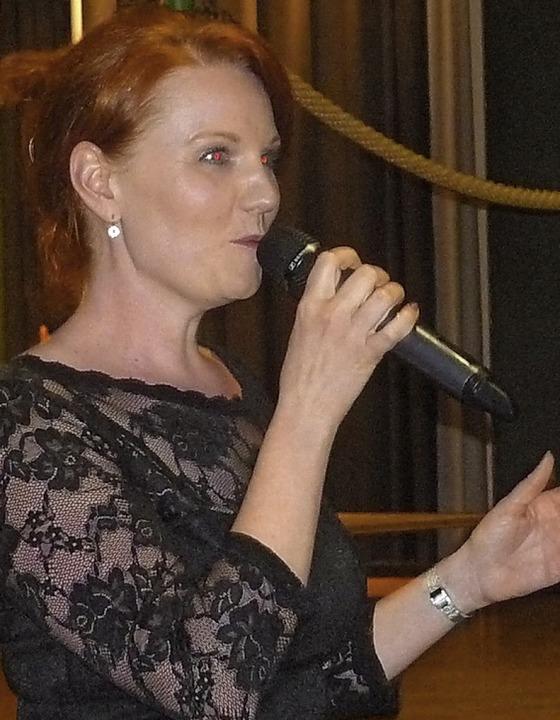 Nadine Dreher berührte mit ihrem Gesang die Herzen.