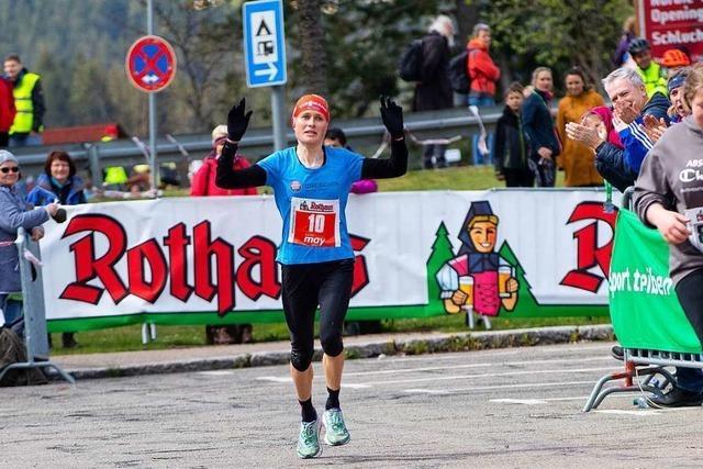 Stefanie Doll gewinnt Schluchseelauf zum zweiten Mal in Folge mit Streckenrekord