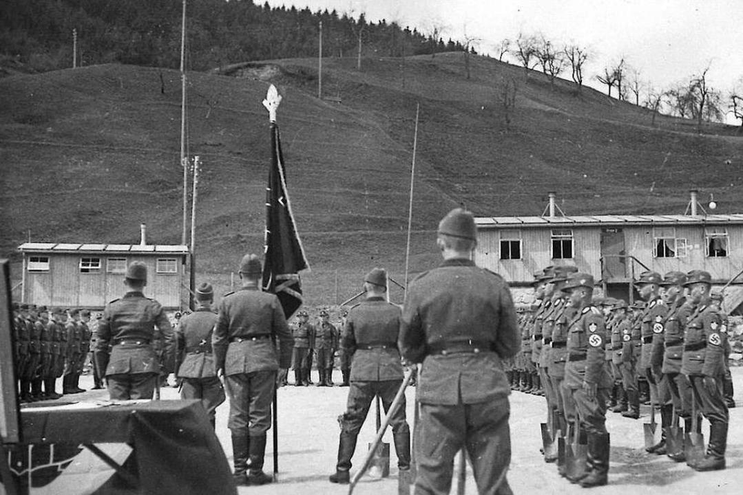 Bei seinen Recherchen ist Hansjörg Noe...l im Reichsarbeitsdienstlager in Wies.  | Foto: Privat