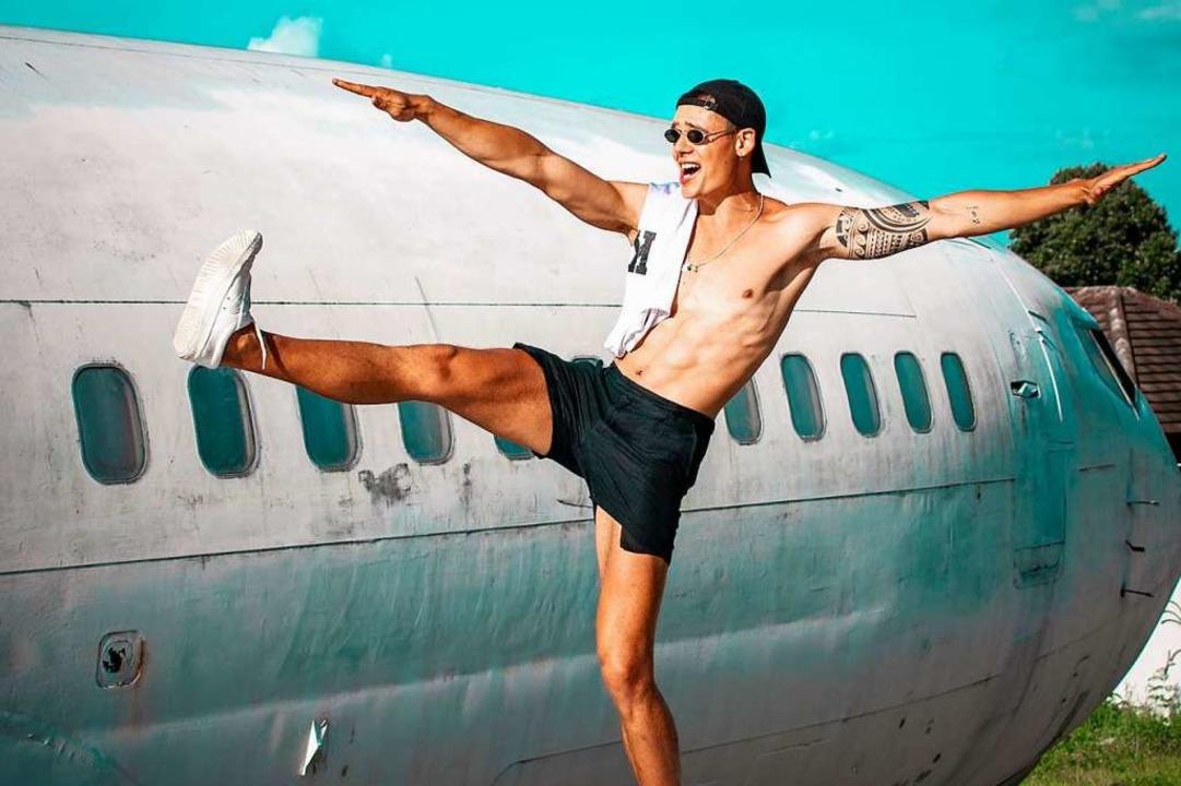 Mario Adrion aus Alpirsbach ist Model und Youtuber.  | Foto: Mario Adrion