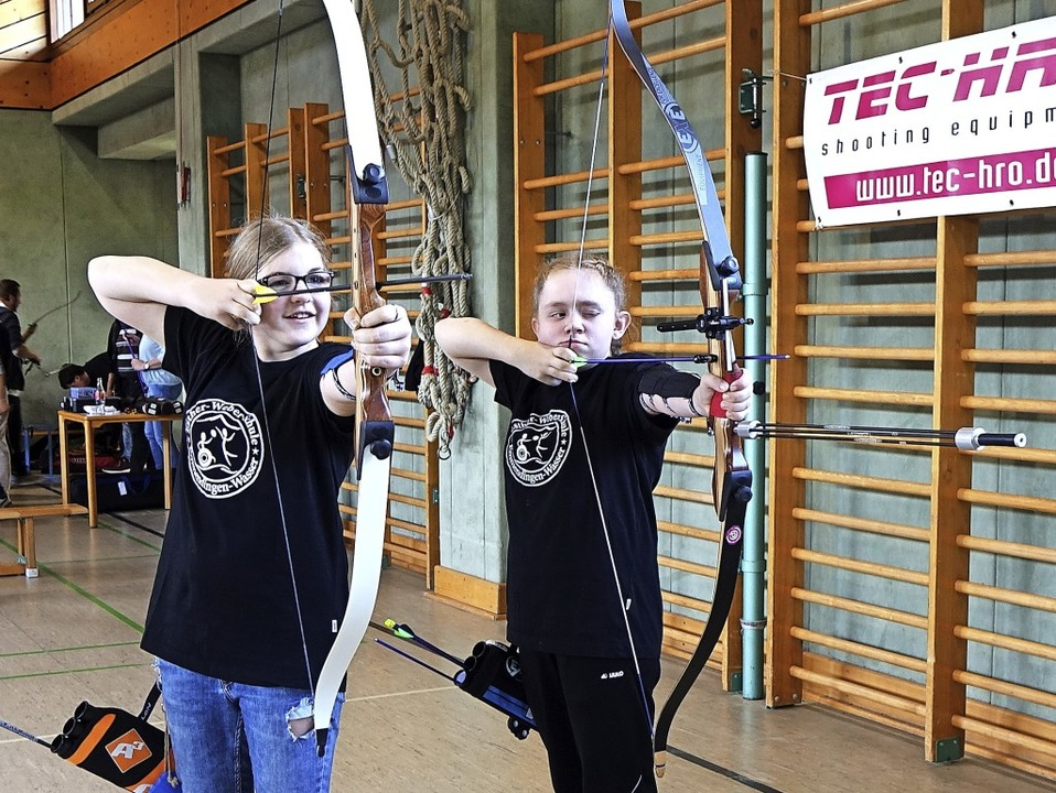 Zielsicher: die Emmendinger Talente Ya...unge (rechts) und  Nora Elina Brücker   | Foto: Benjamin Resetz