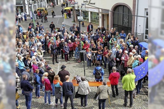 Flashmob für ein friedliches Europa