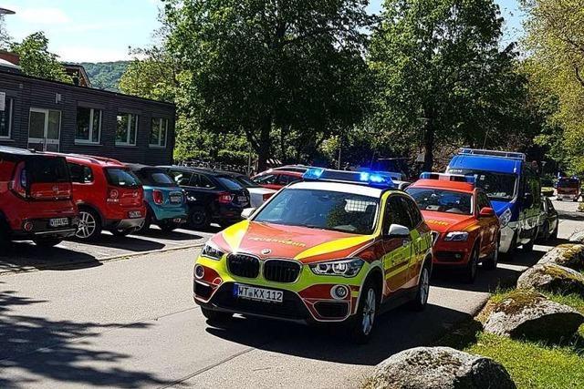 Feuerwehreinsatz in der Weihermattenschule in Bad Säckingen