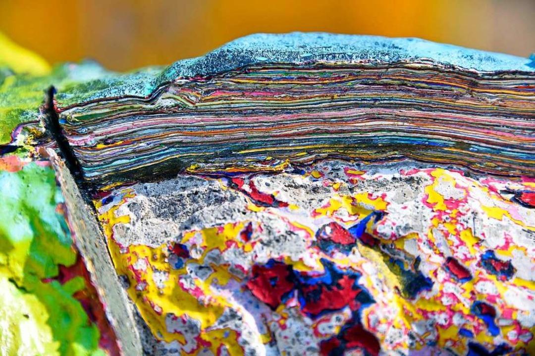 180 Kilogramm Farbe trug das Pferd an sich.  | Foto: Michael Bamberger