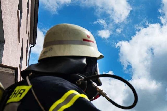 Brand in einem Haus in Egringen